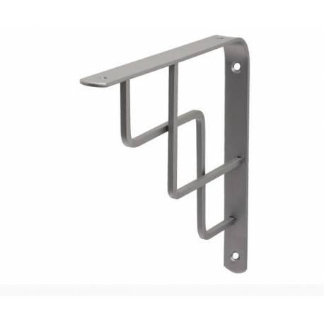 Декоративна конзола 19,5 x 19,5 см, метал, сребриста
