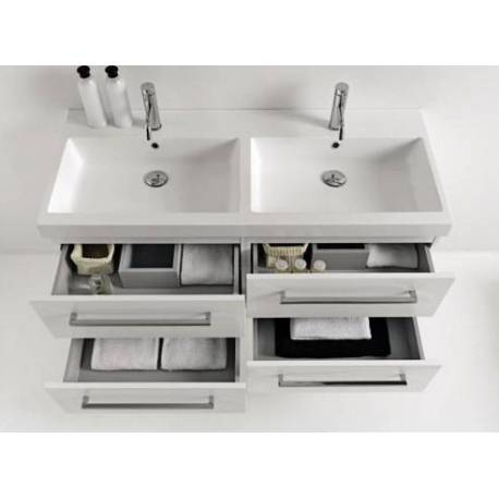 Луксозен комплект за баня - 120 см, шкаф, 2 мивки и огледало