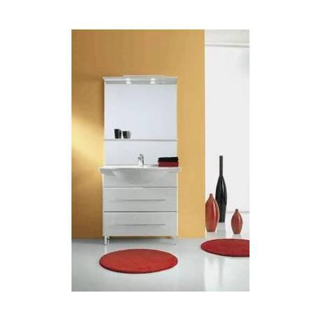 Комплект шкаф за баня с мивка и огледало