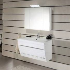 Шкаф за баня - под умивалник 70 см, бял гланц