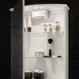 Огледален шкаф за баня 52 см,  бял
