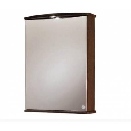 Огледален шкаф за баня 53 см,  орех