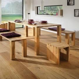 Крака за пейка, слепено дърво- дъб, 2 бр. 42 x 8 x 8 см