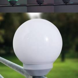 LED соларно кълбо, с лента за закрепване на парапет