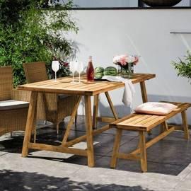 Дървена пейка -160 x 40 см, винтидж визия