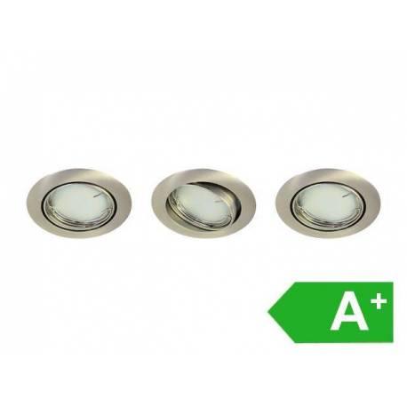Led луни 3 бр. комплект, топло-бяло, за интериор и екстериор