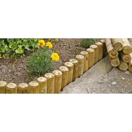 Палисади за градина - 8 x 50 см, плосък връх