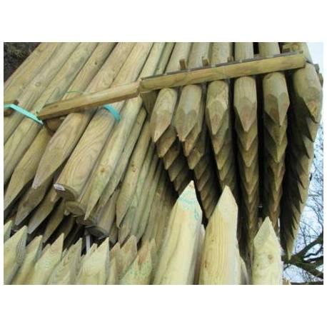 Дървен кол, заострен - 6 x 200 см