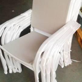Градински стол - бежов
