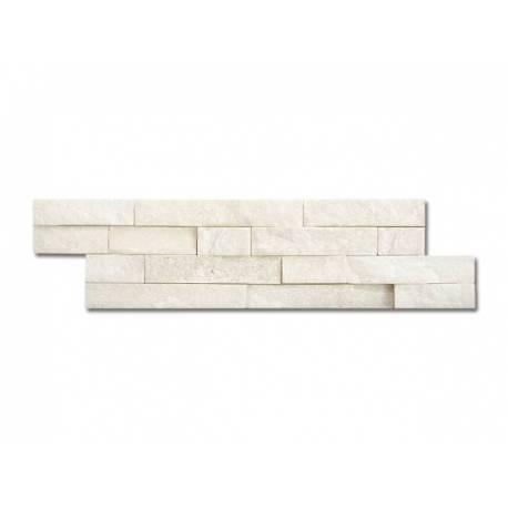 Естествен камък - 10 x 40 см, бял