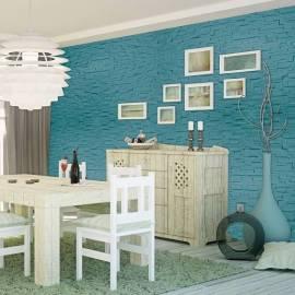 Декоративно пано 500 x 200 мм, имитация на камък, бяло