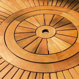Градинска маса - кръгла