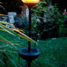 Соларeн свещник, стъкло, височина 80 см