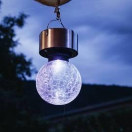 Соларна лампа - висяща, 2 бр. комплект, inox