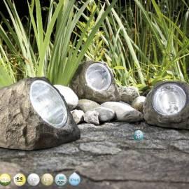Соларни лампи камъни Rock (3бр.) - 160 x 106 x 116 мм