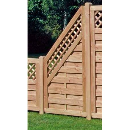 Дървена ограда с решетка 90 x 180 x 90 см