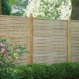 Дървена ограда - 180 x 180 см, плетена
