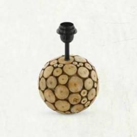 Винтидж настолна лампа - дърво 1хE27 H-385 мм