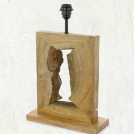 Винтидж настолна лампа - дърво 1хE27 H-280 мм