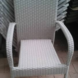 Градински стол ратан, светъл