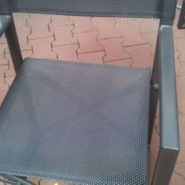 Градински стол, текстил сиво-черно
