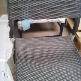 Градински стол с подлакътници, сив