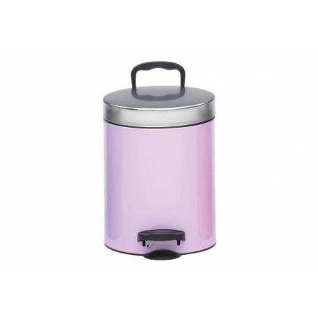 Кошче за боклук с педал 5 л, розово
