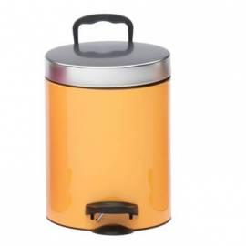 Кошче за боклук с педал 5 л, цвят - праскова