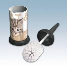 WC поставка с четка - Cat and Dog