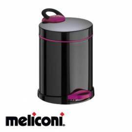 Кошче за боклук с педал 5 л, Opera black and purple