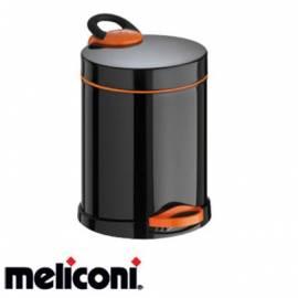 Кошче за боклук с педал 5 л, Opera, black and orange