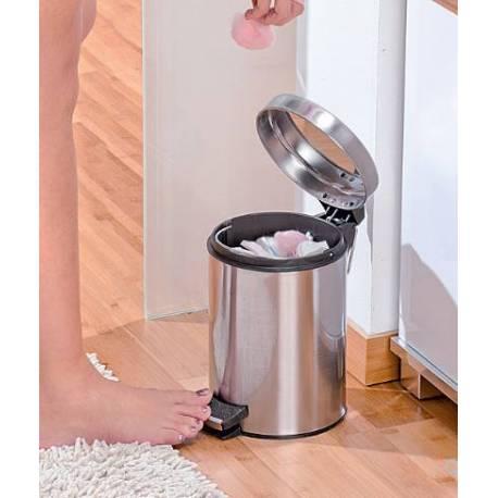 Кошче за боклук с педал, 3 л, неръждаема стомана, инокс