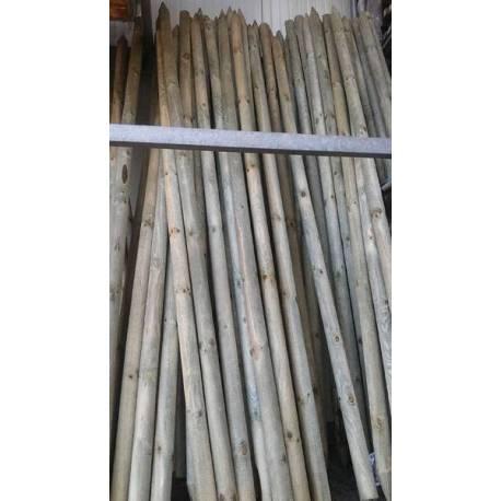 Дървен кол, заострен - 6 x 250 см
