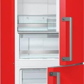 Хладилник с фризер Gorenje NRK6192MRD - 185 см, А++ клас, червен