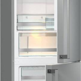 Хладилник с фризер Gorenje - А++ сив металик, NRC6192TX