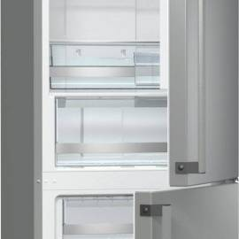 Хладилник с фризер Gorenje - А+ сив металик, NRK6191TX