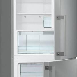 Хладилник с фризер Gorenje - А+ сив металик, NRK6191CX