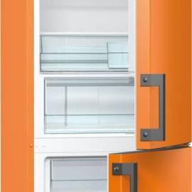 Хладилник с фризер Gorenje - А++ оранжев,RK6192EO