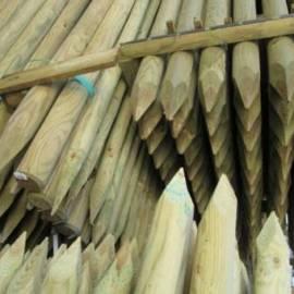 Дървен кол, заострен - 6 x 150 см