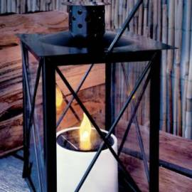 Соларен градински фенер, 33 x 14 x 14 см