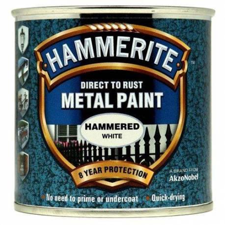 Боя за метал Hammerite, хамър, бял цвят - 2,5 л