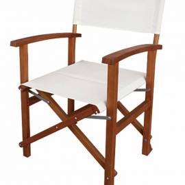 Градински стол - дърво и текстил, сгъваем