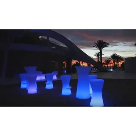 Светеща бар маса 110 см, LED RGB с дистанционно
