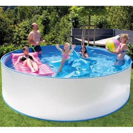 Метален басейн със стълба и филтър 350x90 см
