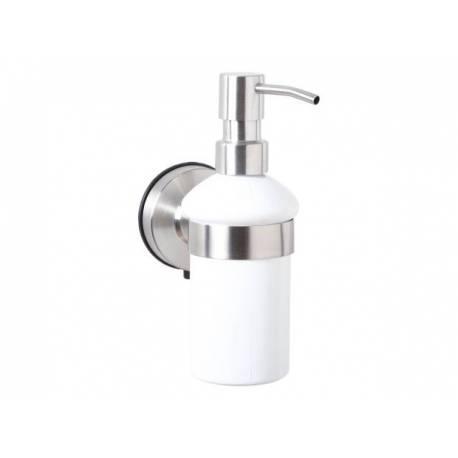 Дозатор за сапун с вакуумно закрепване Salsa, инокс - 0.180 л