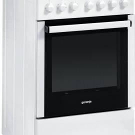 Електрическа печка със стъклокерамичен плот - клас A, EC55203AW