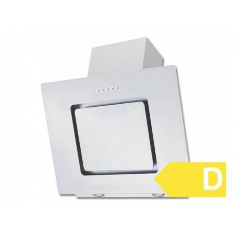 Стъклен скосен абсорбатор Respekta Аlabaster, 60 см, бял