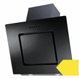 Стъклен скосен абсорбатор Respekta Аlabaster, 60 см, черен