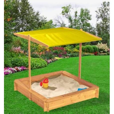 Детски пясъчник със сенник -116 x116 см