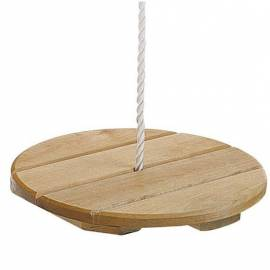 Детска люлка от дърво - висяща, диаметър 30 см